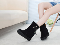 New 2014 Snow Boots Warm Increased Flatform Genuine Leather Winter Shoes Fashion Shoes Woman