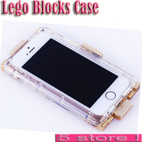Luxury Lego Blocks Perfume Bottle Case For iPhone 4 4S 4G 5 5S Clear Soft TPU Silicone Cover With Leather Chain Mobile Cases