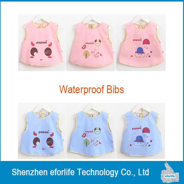 New manches bébé bavoirs enfants offre étanche Bib animaux lettres bande dessinée d'alimentation offres DHL livraison gratuite(China (Mainland))