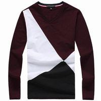 Free shipping, Men long sleeve T shirt Men's cotton t shirt Men's T shirt 901# 3 color M-XXXL size