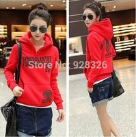 2014 autumn new Women Hoody Sweatshirt Hooded Long-sleeved loose thick sweater