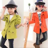 Size100~160 Retail 1pcs Girls windbreaker baby wind  coats kids outerwear autumn Long sleeve children jackets 30p