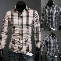 Hot Sale Wash and wear Men Shirts Long Sleeve Business Dress Shirt Free Shipping M675