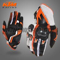 Top Brand Leather Carbon Fiber Race Camp KTM Gloves for ATV MX off road racing enduro Motorcycle Motorbike motocross gloves