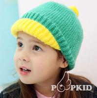 5pcs/lot Children winter woolen hat baby warm caps headwear 2-6years Free shipping
