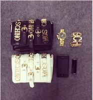 2014 Fashion Big Designs Brand name Female PU Leather Chain bag Handbags Shoulder Bags Women Messenger Bag Evening Bags