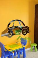 Funlife 40x80cm Cartoon Car DIY Reflective Chrome Mirror-like Wall Stickers Acrylic Decals For Nursery Kids Room RFS032