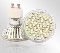 Free shipping Ultra Bright  4W  GU10  60PCS SMD3528  Led  Spotlights AC220V  CE/RoHS Warm/Cool White 200PCS 2 Years Warranty