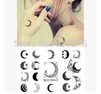 Hot Sale!!!!! New Arrival Waterproof Tattoo Sticker Moon Totem Tatto (10pcs/lot),Wholesale Free Shipping