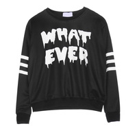 2014 New Autumn Winter Harajuku Tracksuits Personalized What Ever Letters Printed Long-sleeved Sweatshirt T1729B