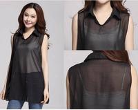 2014 new fashion T Shirt Women Summer Top Print Chiffon T-shirt Plus Size Tee Top for Women