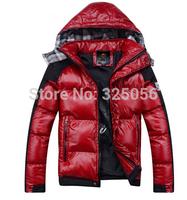 Free Shipping New Men's Padded Jacket Thick Warm Down Coat shiny Fashionable British style padded jacket Men's Clothing