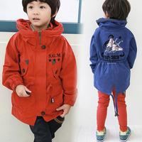 Size110~150 Retail 1pcs boys windbreaker child wind coats kids outerwear autumn Long sleeve children jackets tb8861douyou 30p
