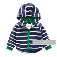 2014 New Brand Children Clothing Baby Boys Girls Striped Hooded Outwear Sports Coat High Quality Kids Casual Jackets Coats