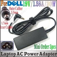 New 2014 5pcs 19V 1.58A AC Adapter For Mini 9 10 12 910 121 1011 1018 1210 A90 PP39S PP19S AD6515 A110L A150L Vostro Brand New