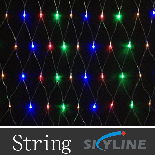 6m*4m large size led net decoration light ,with 640 pcs high brightness leds ,AC110v /220v support ,red+green+blue+yellow color(China (Mainland))