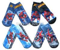 Baby boys Super mario Planes Ben socks/Children cartoon spider-man Spongebob Thomas socks/Kids Transformers sneaker socks,1-5Y
