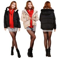 Hot Sale Short Leisure Big Pocket Fur Collar Thicken White Duck Down Women Winter Fashion Jackets Parkas YFZ29