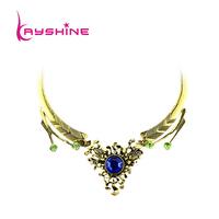 Fashion Jewelry Luxury Unique Graceful At-gold Rhinestone Choker Necklace For bijoux Women