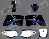 0566 rock star  NEW STYLE TEAM GRAPHICS&BACKGROUNDS DECALS STICKERS Kits for YAMAHA TTR90 2000 - 2007  (blue & black)