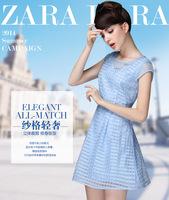 The European station summer 2014 new women's Dress Chiffon Dress