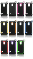 20pcs/lot New arrival Hybird dual layer heavy duty silicone shockproof protective case for  samsung S5 MINI G800 , free ship