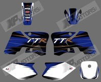 0565  NEW TEAM GRAPHICS&BACKGROUNDS DECALS STICKERS Kits for YAMAHA TTR90 2000 2001 2002 2003 2004 2005 2006 2007  (black&white)