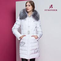 2014 Hot Winter Thicken Warm Women Down jacket Hooded Coats Parka Outerwear Cold Luxury Fox Fur collar Long Plus Size 2XXL Khaki