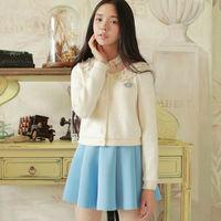 New Fashion Women Flat Knitted Sweater Coat Autumn Wear Short  Knitting Wool Cardigans W93023