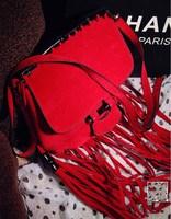 New 2014 Autumn Fashion Long Tassel Scrub Bamboo Bag Women Cross body Shoulder bags Leather Handbags for Women