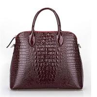 new 2014 fashion tote genuine leather bag alligator pattern women handbag trendy shoulder bag hot women messenger bags bolsas