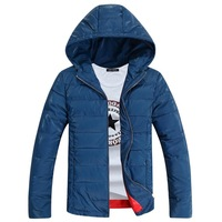 2014 new male teenagers padded thick warm winter coat male Korean fashion wave of men straight jacket