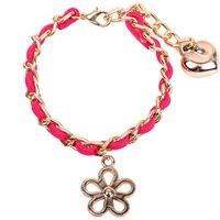 love charm bracelet love letter charm bracelet golden chain twist bracelet