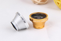 2PCS/LOT 180 universal ring clasp fish glasses Camera Lens zoom lens Kit For iPhone For HTC For SAMSUNG For mobile phone