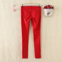 Export Spain Womens 2014 autumn low waist slim slim cotton casual trousers pants