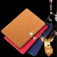 Mooke Retro Business Breathable Flip Ultra Slim Fold Stand Leather Case Wake Sleep Cover For ipad mini 1/2 Retina ipad Air Shell