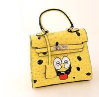 2014 New  exclusive custom spoof SpongeBob sisters platinum bag cover handbag cute shoulder bags