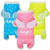 NEW 2015 Winter  ANGEL Dog Pet Jumpsuit Coat Angel Costume Dog Jacket Outwear Hoody Warm Coats Puppy Appearl