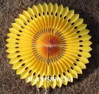 20pcs/lot  25cm hollow fan tissue Paper umbrella Wedding party decoration  wedding arrangement fan paper flowers balls