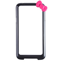 Free Shipping Fashionable Protective PC Bumper Frame Case with Bow for Samsung Galaxy S5 I9600