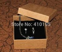 8.5*8.5*4cm  Free shipping HIGH QUALITY! Wholesale 50pcs/lot kraft paper 800g bracelet box,ring packaging box