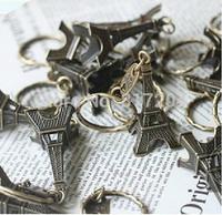 Creative fashion Eiffel Tower French france souvenir paris KeyChain Ring keyring  cute Adornment 5 pcs/Lot Free shipping zf024