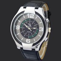 Quartz Black Fashion Gentle Man Men's Boy's Dress Analog Water Clock Hours Gifts Wrist Watches, Free Shipping