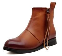 2014 New Autumn Winter Women's Fashion Zipper Retro Fashion Ankle Boots,Square Heel Martin Army Booties X800