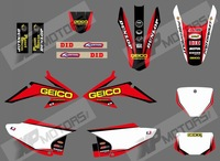 GEICO 0572 GRAPHICS&BACKGROUNDS DECALS STICKERS Kits for HONDA CRF150 CRF230 CRF150F CRF230F CRF AIR COOLED 4 STROKES 2008-2014