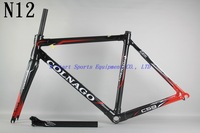 Colnago C59 N-12  Carbon Bicycle  road frame BSA ,Free Gift :glasses or Bicycle Tail Light