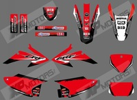RED 575TEAM GRAPHICS&BACKGROUNDS DECALS STICKERS Kits for HONDA CRF150 CRF230 CRF150F CRF230F CRF AIR COOLED 4 STROKES 2008-2014