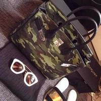 2014 women's fashion handbag fashion personality Camouflage platinum bag lychee handbag messenger bag 14091603