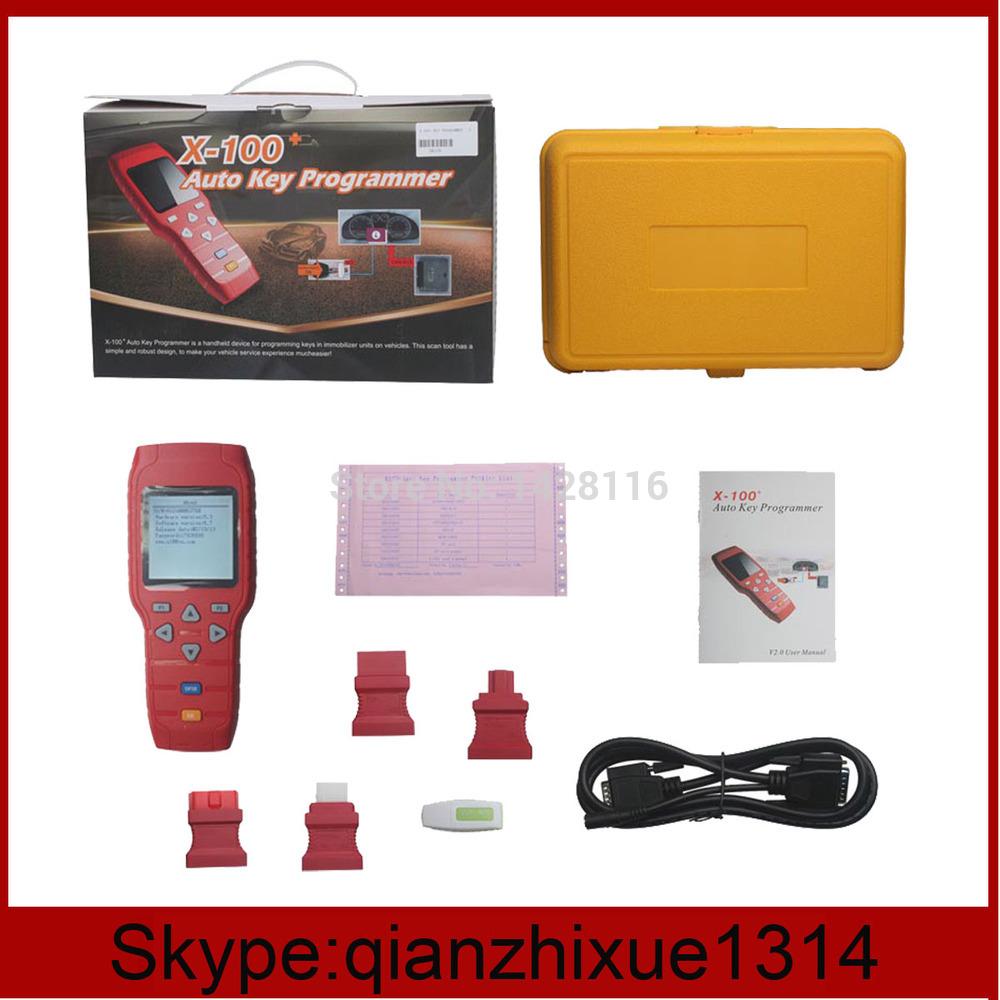 2014 venda quente original x 100+ x100 mais auto programador chave atualização on-line programador chave x100--- de eva lin(China (Mainland))