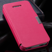 Retail New Items Ultra thin Magnetic Button Flip Leather Case for iphone 4 4S 4G Phone Slim Fashion Retro Cover Case YXF02954